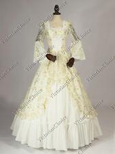 Renaissance Fairy Princess White Wedding Gown Ghost Bride Dress Halloween 133