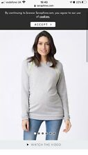 seraphine maternity sweatshirt grey/neon Size 10 VGC