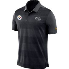 NEW MEN'S NIKE NFL PITTSBURGH STEELERS CRUCIAL CATCH POLO SHIRT SIZE XXL 2XL
