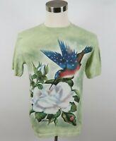 The Mountain Mens Cotton SS Crew Neck Light Green T Shirt Hummingbird Small