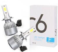 2pcs 72W 7600LM H7 LED COB Car Headlight Conversion Kit Lamp Bulbs 6000K White