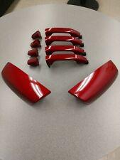 2014-2018 GM OEM Sierra Chevy Silverado cajun red GPJ Handles & Mirror caps