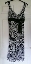 Ladies Special Occasion Dress S 16 L M & S Per  Una Collection Ivory Blk BNWT
