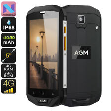 "AGM A8 Smartphone Rugged Android 7.0 Dual IMEI 4G CPU Quad-Core RAM 4GB 5"" IPS"