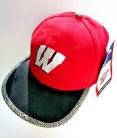 New Wisconsin Badgers Snapback Hat Cap 1996 Reebok Big Ten NCAA Vintage Rare