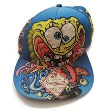 SpongeBob SquarePants Psychedelic All Over Print Snapback Hat | Nickelodeon Blue