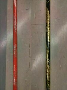"""2 Competition Bo Staff's Martial Arts Training Black AND Red with Dragon 48"""""""