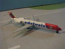 HERPA WINGS (507639) EDELWEISS AIRLINES MD-83 1:500 SCALE DIECAST METAL MODEL