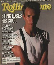 Rolling Stone -September 26, 1985 - Sting - Rob Lowe - Jong Cougar - Springsteen