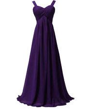 Long Bridesmaid Dresses Chiffon Spaghetti Strap Formal Gown Party Evening Dress