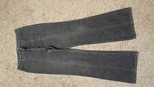 """DKNY JEANS SMOKE BLACK SZ 8 ( 30"""" ALL THE AROUND BELL ) FOR WOMANS"""