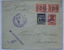 SURINAM - 1929 Air mail cover - Surinam to Curacao via Trinidad - De Postdirecte