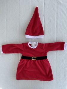 Weihnachtskleid Nikolauskleid Weihnachtsmann Santa Rot H&M Gr 74 mit Mütze