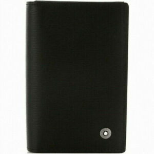 [Mont Blanc] 38034 Natural Genuine Leather Credit ID Business Card Holder Wallet