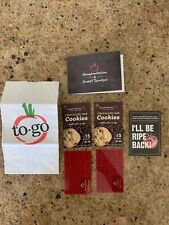 SOUPLANTATION SWEET TOMATOES I'LL BE RIPE BACK, TO GO Bag, 2 Gift Cards + More