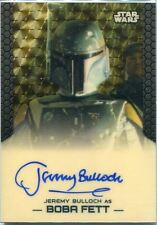Star Wars Chrome Perspectives Superfractor Parallel Autograph Jeremy Bulloch