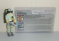 CUSTOM Black Major 1987 GI Joe Starduster v1A Figure Complete w/ Uncut File Card