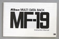 Nikon Multi Data Back MF-19  Instruction Manual Original