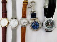 Lot Of 4 Quartz Watch ADI CASIO-SHEEN QUAMER-lED Japan Mov' Working Men's