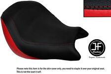 Rojo y Negro personalizado de vinilo cabe Honda VTX 1800 02-04 frente cubierta de asiento solamente
