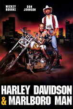 HARLEY DAVIDSON AND THE MARLBORO MAN Movie POSTER 27x40 B Kelly Hu Mickey Rourke