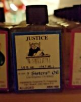 JUSTICE Ritual Oil Spell Wicca PAGAN Witchcraft 1/2 OZ Court Win LUCK Occult