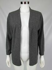 Charter Club 2-Ply 100% Cashmere Womens Gray Open Front Cardigan Sweater Large
