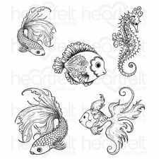 Heartfelt Creations: Under the Sea Cling Stamp Set (HCPC-3739)