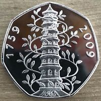 Kew Gardens 50p Coin 2009 Uncirculated Very Rare And Collectable (See Details)