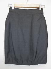 SABA Charcoal Grey High Waisted Pencil Corporate Work Skirt sz 6 XXS
