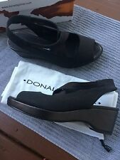 ☀️ Donald J Pliner Kisa Expresso Textile & Leather Sandals Sz 7 EUC $265.00