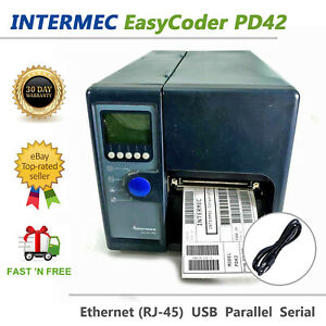 Intermec EasyCoder PD42 Thermal Transfer Printer PD42GJ1100001020 USB LAN Rewind