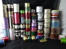69 Assorted Craft and Curling Ribbons - Some New - Some Partially Used -Nice Lot