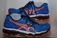 Asics Gel Nimbus 18 Mens Blue & Orange Trainers Uk Size 8.5