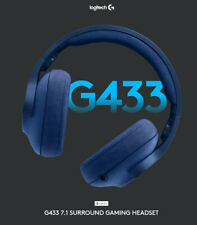 Logitech G433 Black 7.1 Surround Sound Wired Gaming Headsets BRAND NEW Black