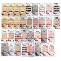 KISS* 28pc Nail Set SALON ACRYLIC No Chip Nails FRENCH+NATURAL New! *YOU CHOOSE*