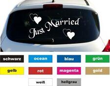Just Married Auto Aufkleber Sticker Heckscheibe 10 x 20 cm