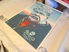 "2007 Obey Shepard Fairey ""Captain Watson"" ART PRINT RARE 18X24 +Artists Proof AP"