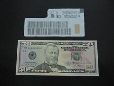 2013 $50 US DOLLAR BANK NOTE MA 01610160 REPEATER NOTE USD UNC CU UNITED STATES