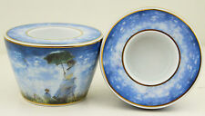 GOEBEL Tea Light Candle holder Pair Two 2 Monet Artis Orbis AS NEW Collectable
