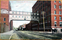 1910 Moline, Illinois Postcard: Third Avenue/Buildings - IL Ill