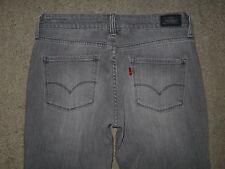 Levi's 552 Size 0 Short Straight Light Gray Stretch Denim Womens Jeans