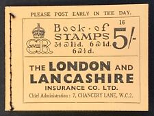 GB Booklet. GPO Stamps 5/-. 1937 Complete. Good Condition SGBC4. CV £275 (LC158)