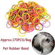 Approx.170PCS/Bag Dog Headband Elastic Stretchy Pet Rubber Band No Stick Hair