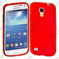 ACCESSOIRE HOUSSE ETUI COQUE SILICONE S ROUGE Samsung Galaxy S4 mini i9190 i9195