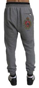 DOLCE & GABBANA Exclusive Sweat Pants Grey Mens Size IT50 - Medium