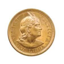 Moneda Oro 1 Libra Perú Verdad I Justicia 7,99 grs Año 1966 Gold Coins