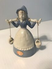 Lego Japan Dutch Girl Bell With Outside Clapper Hanging Buckets Well Maid