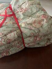 Ralph Lauren Charlotte FULL QUEEN Comforter Sage Green Floral Bedspread