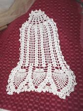 ANTIQUE CROCHET BELL SIDE TABLE XMAS ACCENT MINT! # 5399